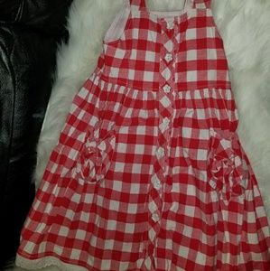 boutique Dresses - Girls size 5  red and white gingham boutiqu dress